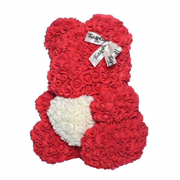 Teddy Rose with heart (Love red) Available for USA.